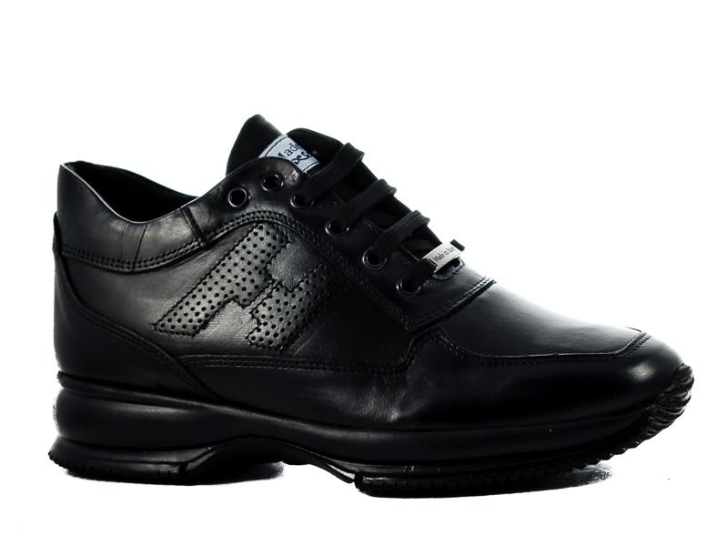 Γυναικεία Δερμάτινα Sneakers HO420 BLACK Μαύρο