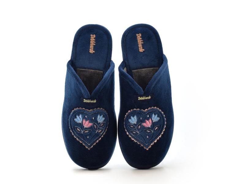 Γυναικείες Παντόφλες Σπιτιού DeValverde DV1006 Μπλε