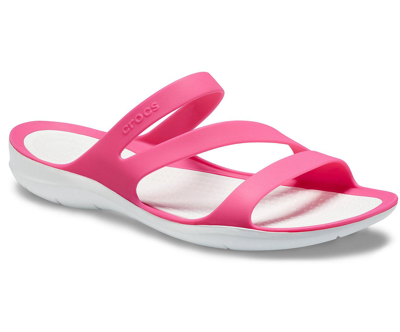 Crocs™ SWIFTWATER SANDAL 203998 Paradise Pink/White Ροζ