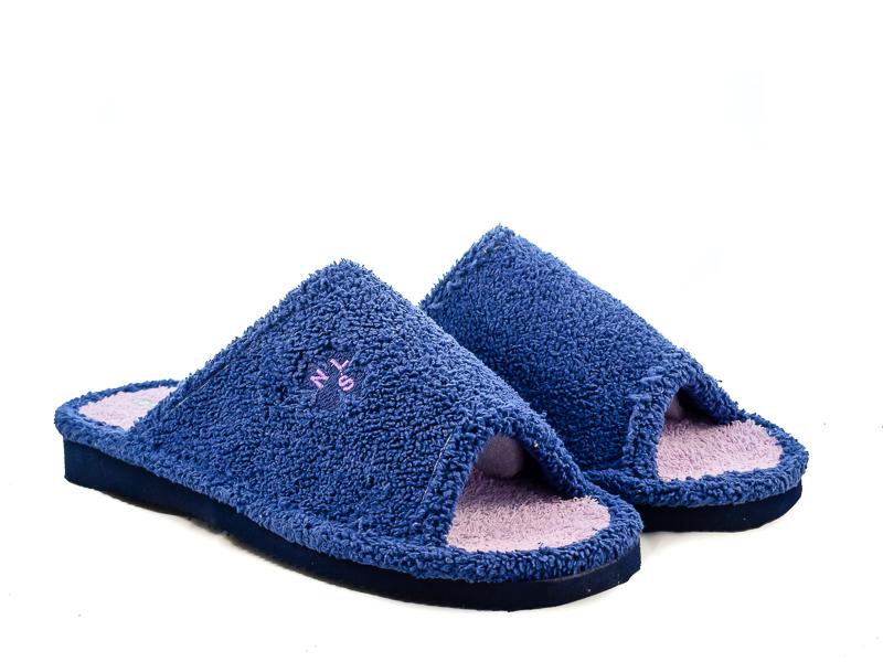 Γυναικείες Παντόφλες Μπουρνουζέ Υφαντίδης NE128 Μπλε