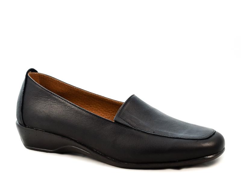 Γυναικεία Δερμάτινα Παπούτσια Με Αερόσολα Υφαντίδης YF154 Μαύρο