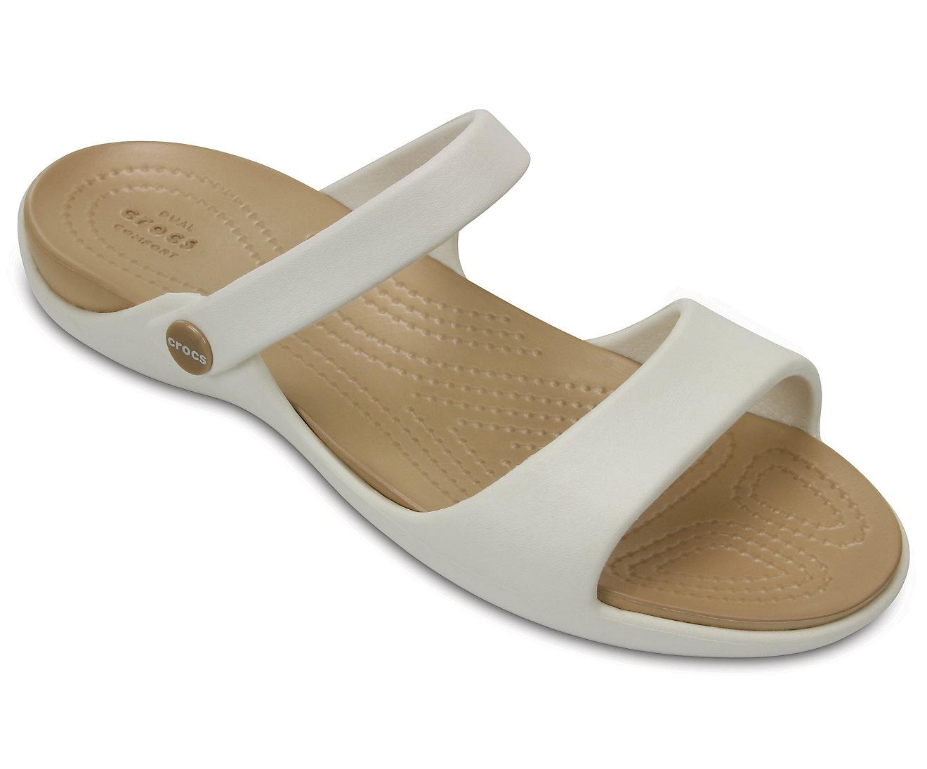 CROCS Cleo V Sandals 204268 Oyster/Gold Μπεζ