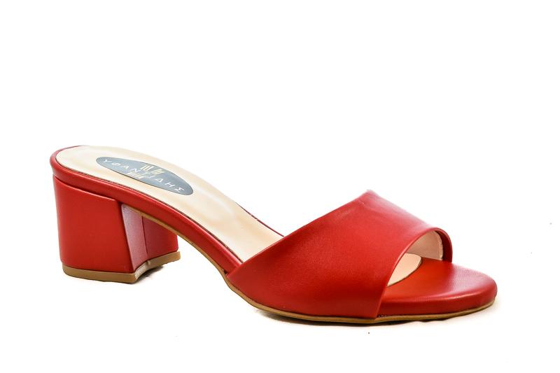 Γυναικεία Mules Υφαντίδης 5101-309 Κόκκινο