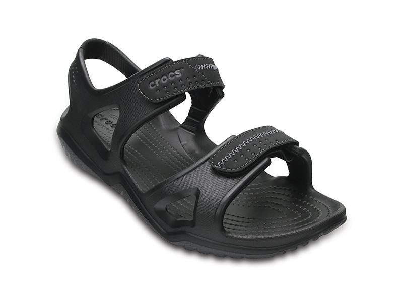 CROCS Men's Swiftwater River Sandals 203965-060 BLACK/BLACK Μαύρο