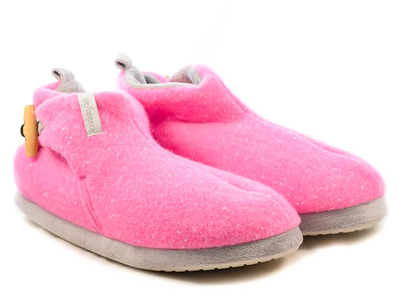Γυναικείες Παντόφλες Σπιτιού Μποτάκια Defonseca W631 Ροζ