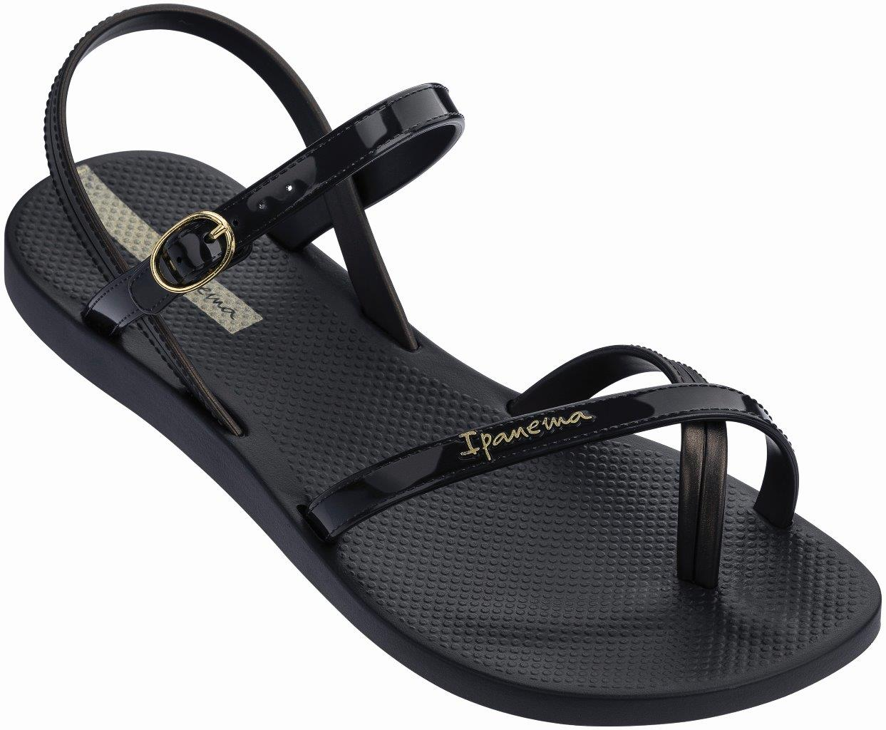 IPANEMA FASHION SAND VII FEM 780-19363 BLACK/BLACK Μαύρο