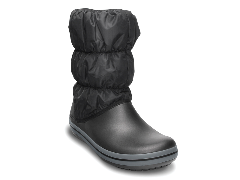 Crocs Winter Puff Boot 14614-070 black/charcoal Μαύρο