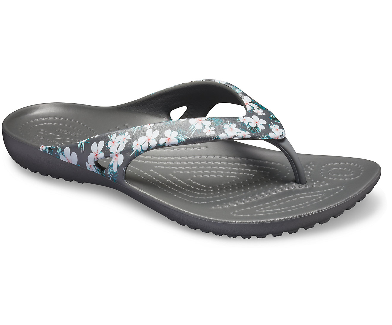Crocs Kadee II Seasonal Flip w 205635-98F TROPICAL FLORAL/BLACK Μαύρο
