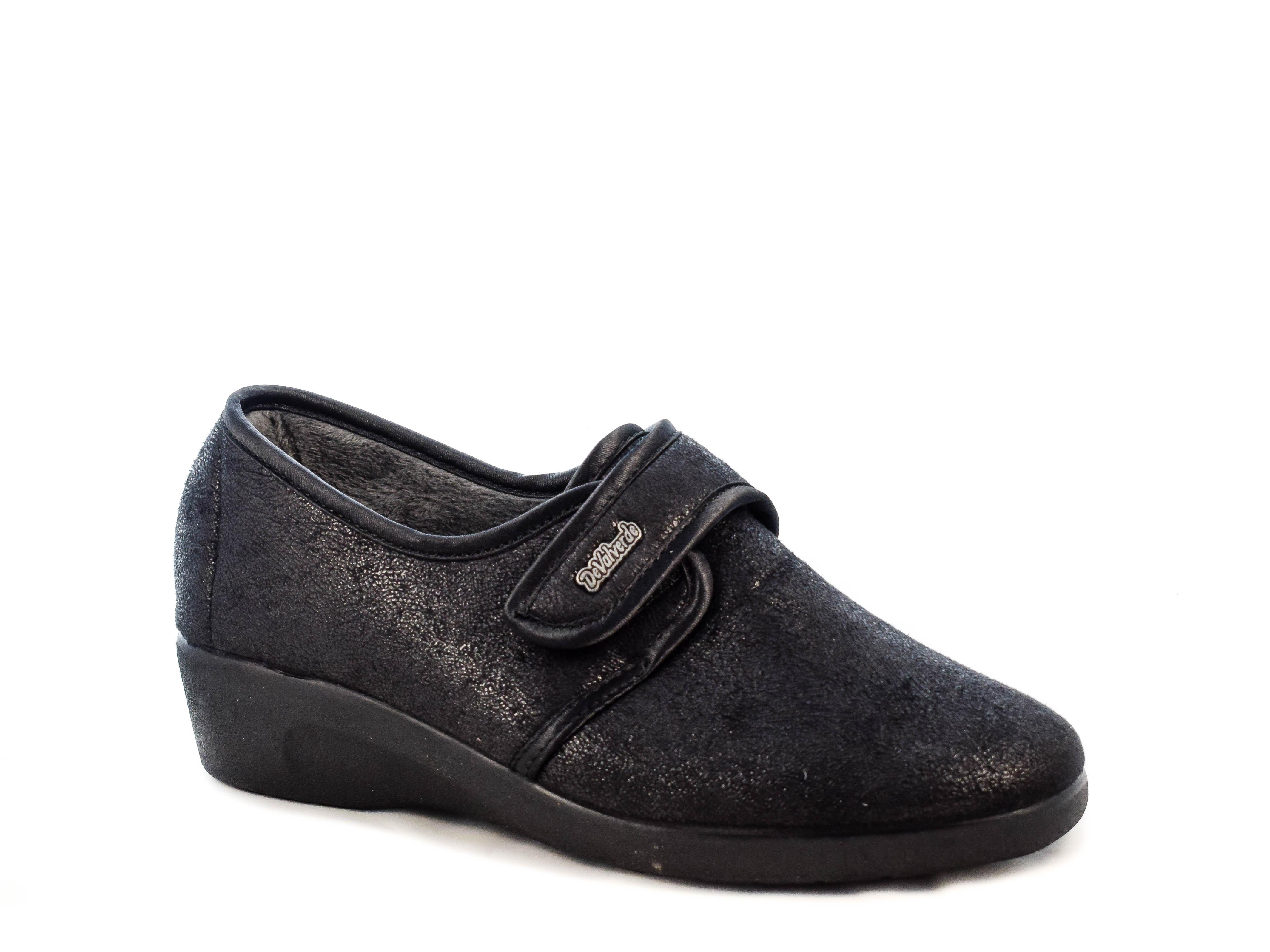 Γυναικεία Υφασμάτινα Παπούτσια DeValverde DV212 BLACK Μαύρο