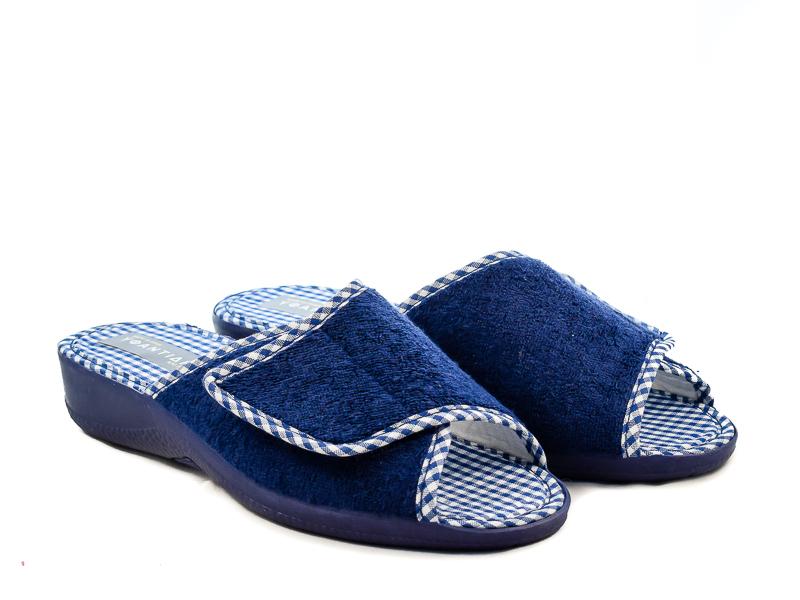 Γυναικείες Παντόφλες Μπουρνουζέ Υφαντίδης NE2032 Μπλε