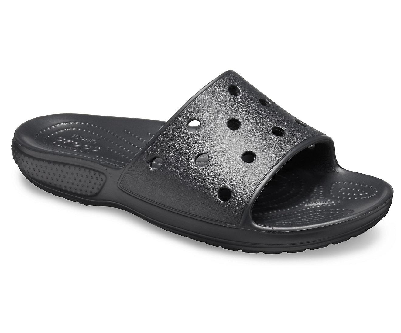 Crocs Classic Slide 206121-001 BLACK Μαύρο