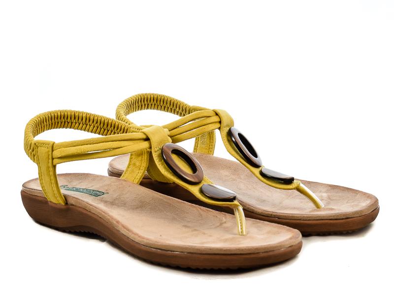 Γυναικεία Ανατομικά Σανδάλια Amarpies ABZ17063 Κίτρινο